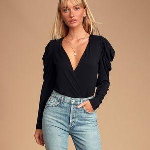 Lulu's Black Bodysuit